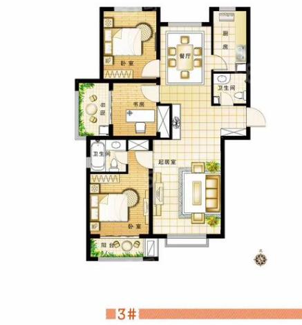 安联水晶坊南北通透3居室东楼头19层看房方便