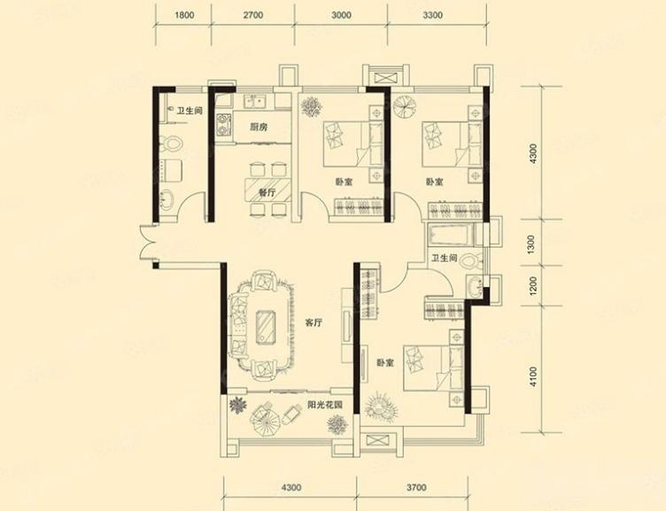萬浩金百合東區精裝修3居室房主包過戶有證能貸款