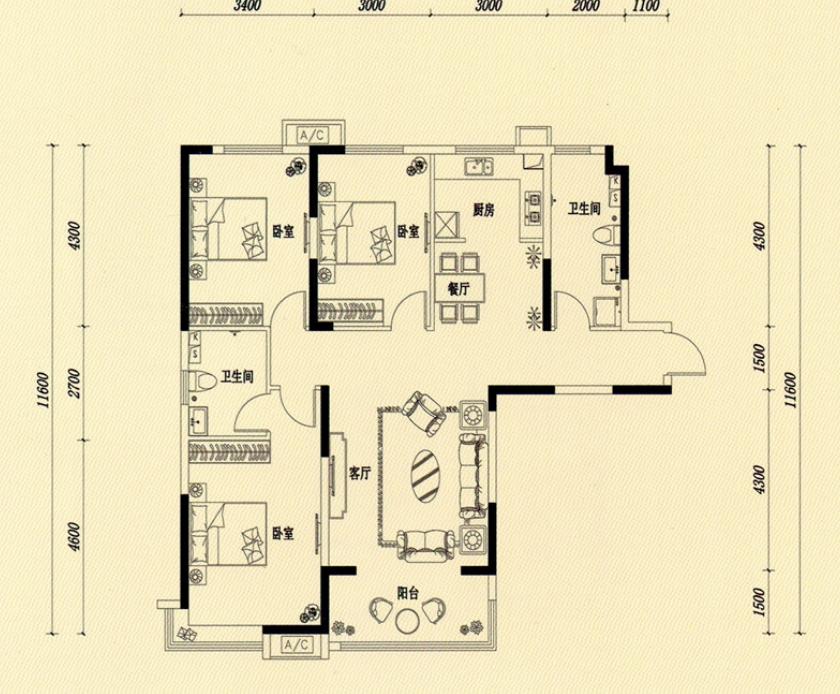萬浩金百合西區精裝修3居室小高層能貸款看房方便