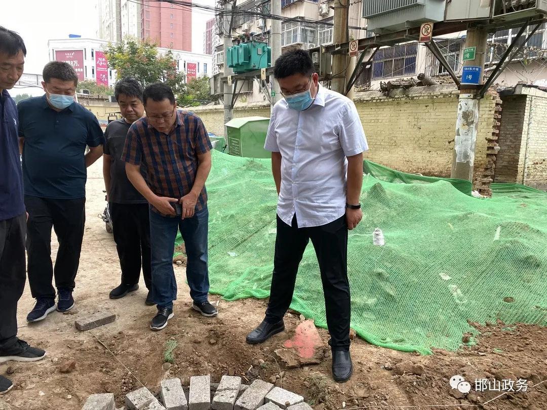 邯郸邯山区区长刘俊波督导老旧小区改造工作