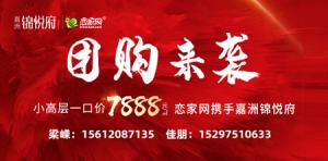 嘉洲·锦悦府劲爆价7888元/㎡!下午3点锁定抖音恋家网!